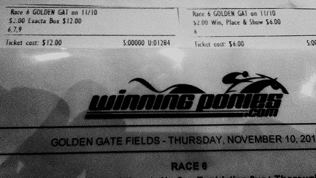 Jay's $191 Exacta at Golden Gate