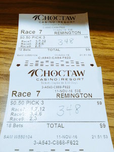 Winning Pick 3 Tickets at Remington
