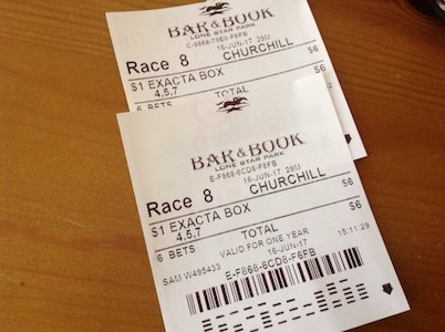 Winning Exacta Tickets at Churchill